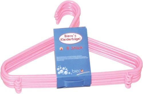 Kinder Kleiderbügel Kunststoff 8er Pack Rosa