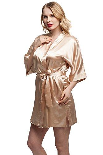 Kimono Women's Smooth Touch Short Kimono Robes for Bride and Bridesmaids