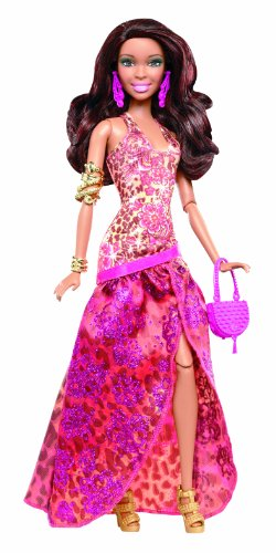 Barbie Fashionistas in The Spotlight Gown Doll, Orange]()
