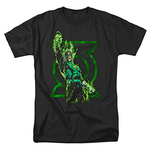 Green Lantern Men's Fully Charged T-shirt Black