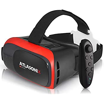 VR Headset Compatible with iPhone and Android Phones | Bonus: Remote Control for Android Smartphones | 3D Virtual Reality Goggles with Controller | Adjustable VR Glasses - Gift for Kids and Adults