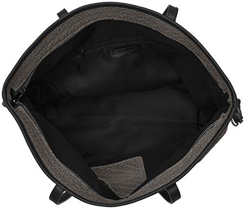 Chicca Borse 80061 - Shoppers y bolsos de hombro Mujer Gris (Grigio)