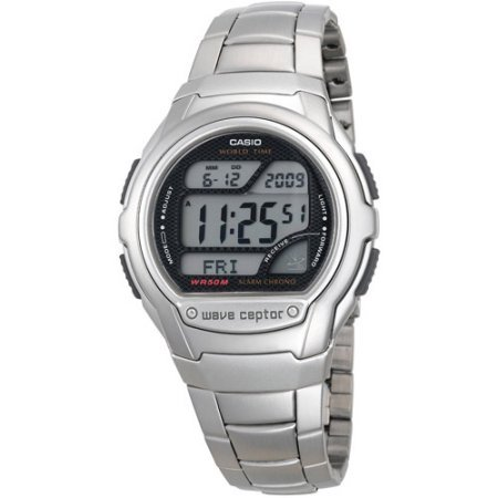 Atomic WV59DA-1AVWT Stainless Steel Digital Watch Silver