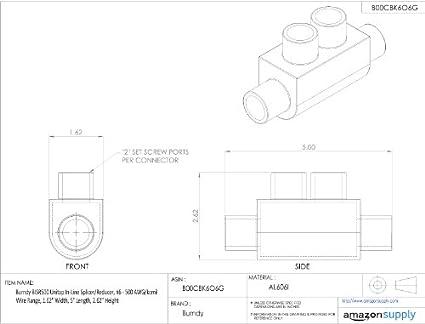 Burndy Bisr500 Unitap In Line Splicerreducer 6 500 Awgkcmil Wire
