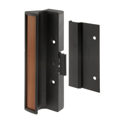 Prime-Line Products C 1073 Sliding Door Handle Set, Black Aluminum, 1-Pack by Prime-Line (Image #1)