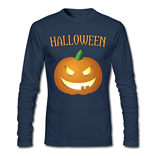 LDMH Men's Happy Halloween Long Sleeve Tee - Marta Toffee