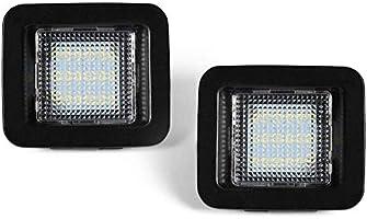 GemPro 2-Pack LED License Plate Light Lamp Assembly For 2015-up Ford F150 2017-up Ford Raptor Powered by 18SMD White 6000K LED Lights