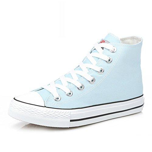Zapatillas Primavera,Blanco Zapatos Flat-bottom,Estudiante Alta Clásica Pareja Zapatos,Zapatos Deportivos E