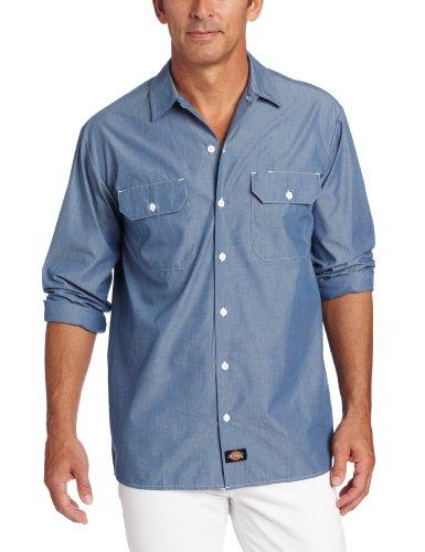 Chambray Blue Clothing (Dickies Men's Big Long Sleeve Shirt Tall, Blue Chambray, 2 Tall)