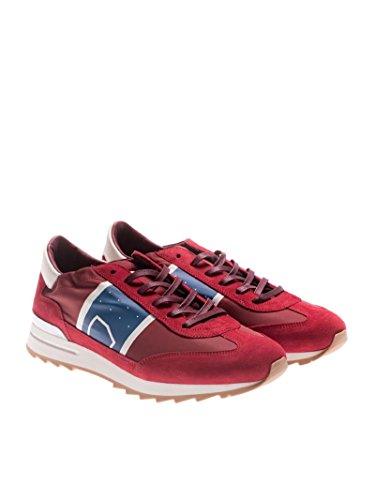 Philippe Model Mannen Pslub021 Rood Synthetische Vezels Sneakers