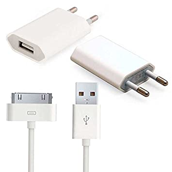 Cable USB 2 en 1 Carga y datos + Cargador USB para iPhone 4/4S/3GS/3G, iPod