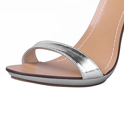 Women's Dress Ankle High Sliver Strap Stiletto Heel OCHENTA Sandals RYwvYq