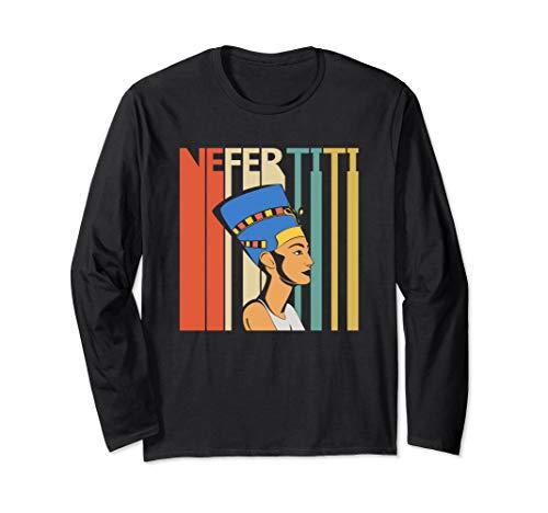 Egyptian Queen Nefertiti Shirt - Egypt Pharaoh Gift Long Sleeve T-Shirt