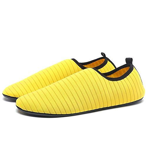 Surf Ejercicio Mens Nadar Agua Descalzo Calcetines De ALIKEEYWomens Amarillo Dry Quick Aqua Zapatos Playa PqxfxBdw7