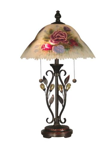Dale Tiffany Crystal  Leaves Table Lamp