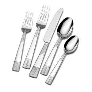 Pfaltzgraff Everyday Seabury Frost 45-Piece Flatware Set (Service for 8)