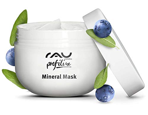 RAU Mineral Mask Profiline (6.8 Fl.oz) - Healing, Antibacterial Face Mask for Impure Skin and Removal of Blackheads, Pimples - with Zinc, Chalk from the Island Rügen, Sage, Magnesium&Moisturizing Oils (Ruegen Island)