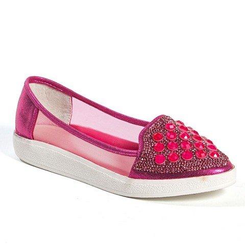 Lady Couture Himmel Mote Sneaker Med Steiner Shoe44; Fuchsia - Størrelse 38