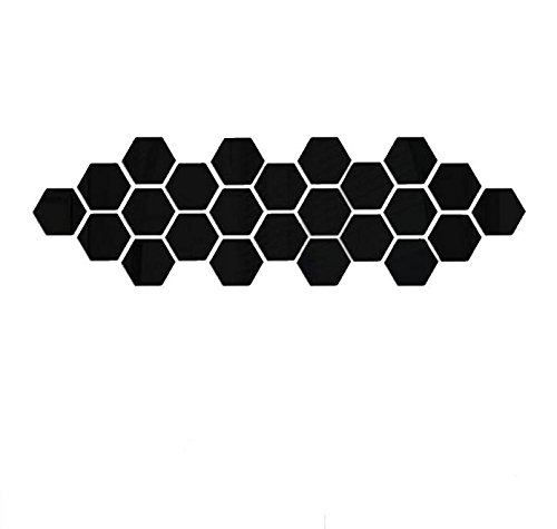 OTTATAT Wall Stickers For Living Room 2019,12Pcs 3D Mirror Hexagon Vinyl Removable Wall Sticker Decal Home Decor Art Black Easy to peel Lingerie Party, Party Gift for boy Deliver Under 5 dollars