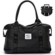 Travel Gym Bag for Women, GoFar Tote Bag Carry on Luggage Sport Duffle Weekender Overnight Bags with Wet Pocke