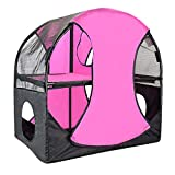 Homyl Two Storey Cat Climbing Tower Breathable Mesh House Kitten Fun Playing Toys Activity Centre Explore Tunnel