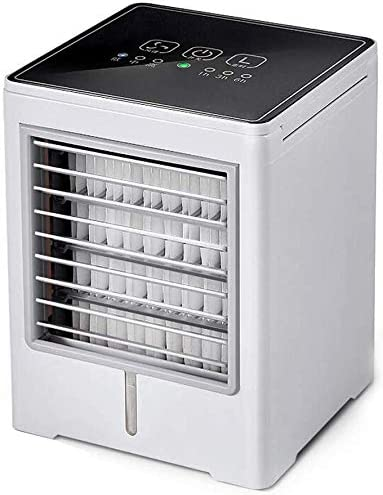 3 Speeds Dorm Purifier with USB Humidifier Smart Touch Screen Desktop Cooling Fan for Office Travel Home Personal Air Cooler 3 in 1 Evaporative Coolers Portable Mini Air Conditioner