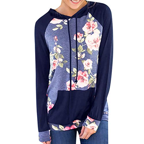 - XOWRTE Women's Sweatshirt Floral Printting Fall Winter Hoodie Shirts Pullover Tops