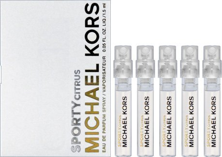 (5 Michael Kors Sporty Citrus Eau De Parfum Fragrance Spray Sample Travel Vial .05 Oz/1.5 mL each --> .25oz)