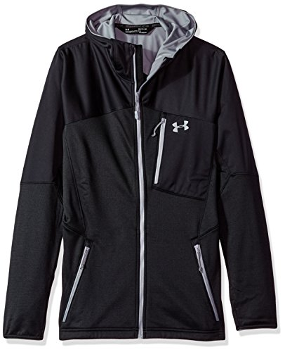 - Under Armour Outerwear Armour Men's ColdGear Reactor Fleece Hoodie, Black (001)/Steel, Large