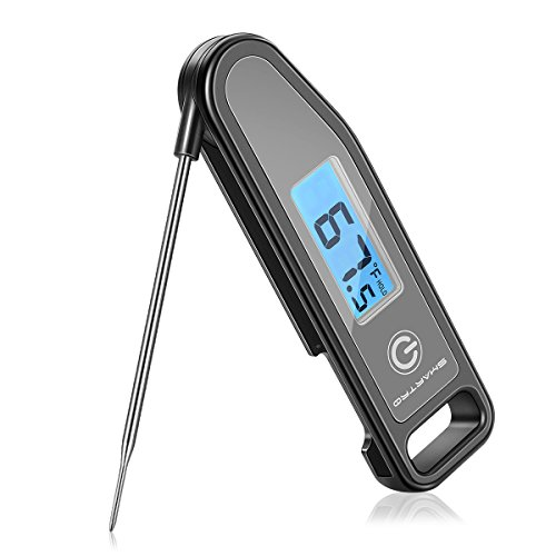 - SMARTRO Meat Thermometer Instant Read Cooking Food Thermometer Digital Touch-Screen Thermometer for Candy, BBQ, Kitchen, Grilling, Smoker