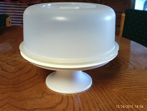 Vintage Tupperware Cake Stand Pedestal Dome Serve It All