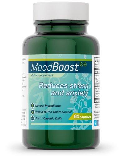 Mood Boost stress et l'anxiété relief naturel (60 Capsules avec 5-HTP, Passion Flower, L-Tyrosine, Suntheanine L-théanine, et GABA)