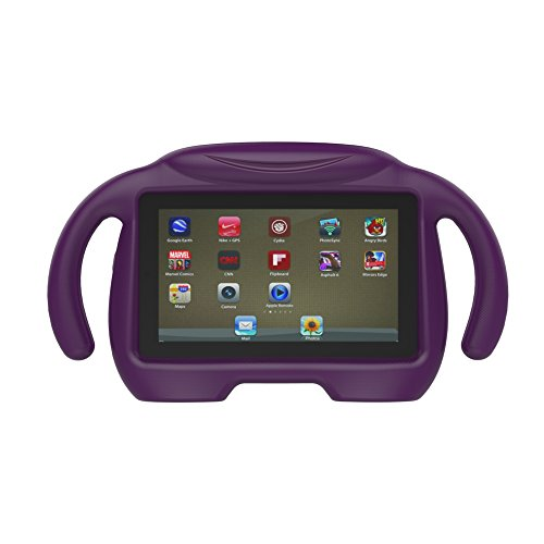 All-New Fire 7 Tablet Case 2017, KROMI Kidproof Shockproof Protective Handle Stand Case for Fire 7 with Alexa (7th Generation, 2017 Release) & (5th Gen, 2015 Release)(Purple)