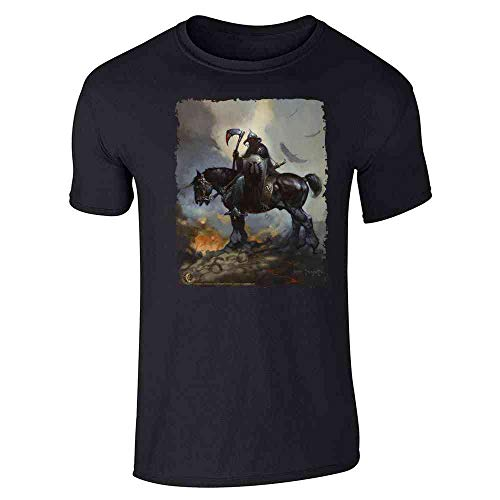 (Death Dealer by Frank Frazetta Art Horror Black XL Short Sleeve T-Shirt)