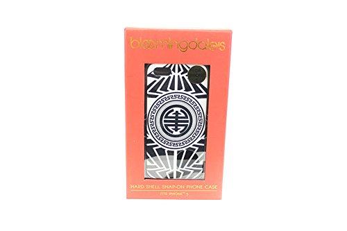 bloomingdales-black-white-printed-hard-shell-snap-on-iphone-5-case-osfa