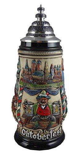German Beer Stein Oktoberfest Munich bavaria Stein 0.5 liter tankard, beer mug ZO 1756/906