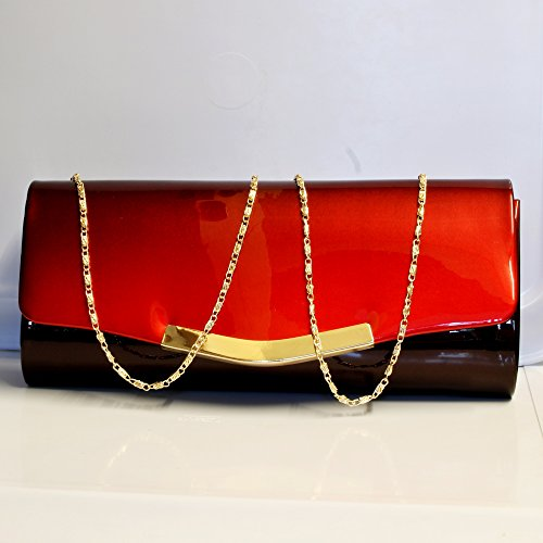 Handbag Bag Prom Red Styles Clutch Bag Party Rock Evening 6672 Patent Bridal on Sparkly pHH8qBw