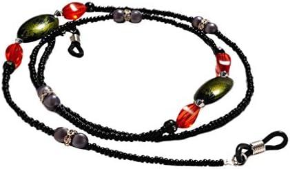 EXCEART 2 Stück Perlen Brillen Kette Brille Halter Schnur Lanyard Halskette Kette Schnur für Sonnenbrillen Und Lesebrillen (Schwarz Weiß)
