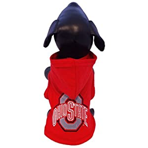 All Star Dogs NCAA Ohio State Buckeyes Cotton Lycra Hooded Dog Shirt, Large