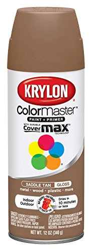 Krylon 53554 Saddle Tan Interior and Exterior Decorator Paint - 12 oz. Aerosol