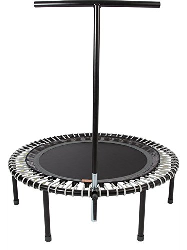bellicon Plus Trampoline with Handle 44 with Fold-Up Legs – Made in Germany – Best Bounce – 60 Day Online Workout Program