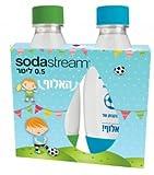 Sodastream Children Boys Football Set of 2 Bottles Kindergarten and school