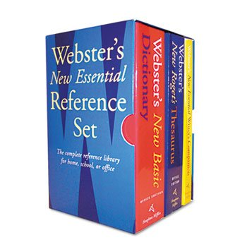 Websters New Essential Reference Three-Book Desk Set Paperback