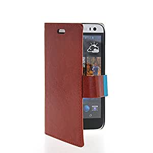 KCASE Flip Leather Slim Wallet Card Pouch Stand Case Cover For HTC Desire 616 (D616W) Coffee
