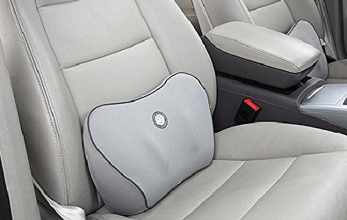 Ergonomic Spine Care Cushion Memory Foam Lumbar Cushion Vehicle Back Support for Home Office or Car Seat Cushion Back Cushion (Gray)