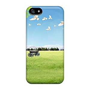 Durable Defender Case For Iphone 5/5s Tpu Cover(waiting For The Train)