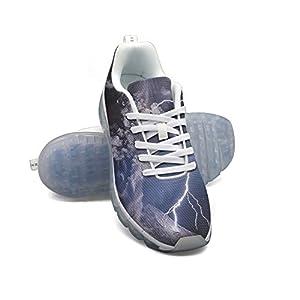 FAAERD Lightning Volcano De Colima Men's Fashion Lightweight Mesh Air Cushion Sneakers Running Shoes