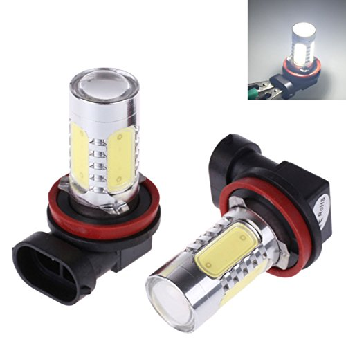 Auto-Partner Xenon HID Headlight Bulbs H11 6000k LED Bulb Fog Light Lamps Replacement, 1 Pair (White)