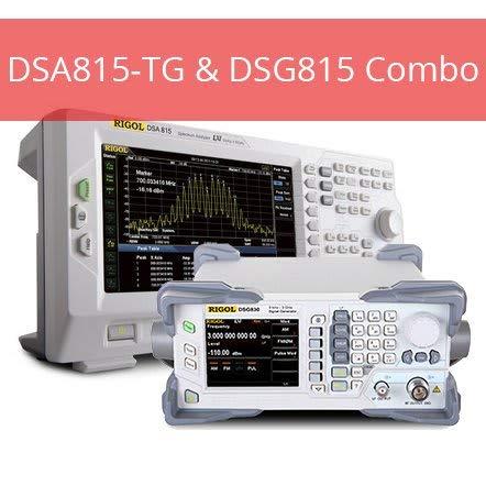 (Rigol DSG815 DSA815 Combo Spectrum Analyzer and DSG815 1.5 GHz AM/FM Signal Generator)