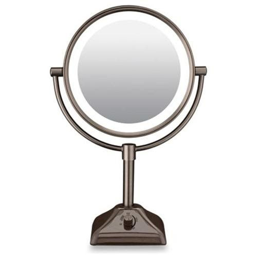 Conair Variable Lighted Double-Sided 1X 10X Mirror in Oil Rubbed Bronze Finish
